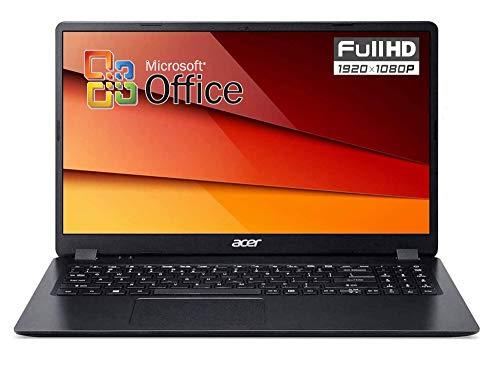 Ordenador portátil Acer Intel Core i3 de 10 Gen hasta 3,4 GHz, RAM de 8 GB, SSD M.2 PCI Nvme de 256 GB, Office 2019, pantalla de 15,6 pulgadas Full HD LED, Bt, HDMI, Win10 Pro, listo para usar, Italia