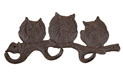 XI 'an Linton sa-14972 – Cintre hiboux, Metal, 3 x 30 x 15 CM, Couleur Rouille
