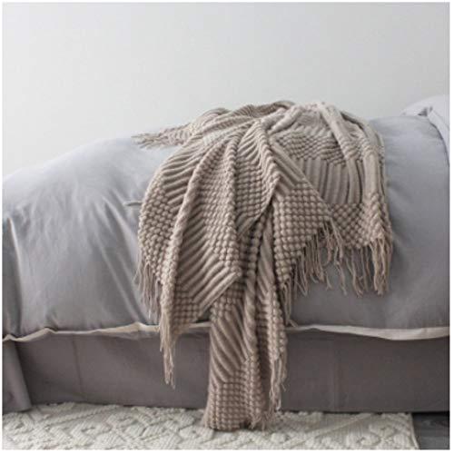 BZRXQR Versatile Nuovo Knitting Svago copridivano Gettare Primavera e L'Estate Aria condizionata Piccolo Nap copriletti soffice coltre Lavorata a Maglia Blanket Divano