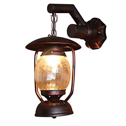Wandlamp antiek nostalgisch ijzer labradado wandlamp restaurant gang decoratie wandlamp accessoires E27 D-B
