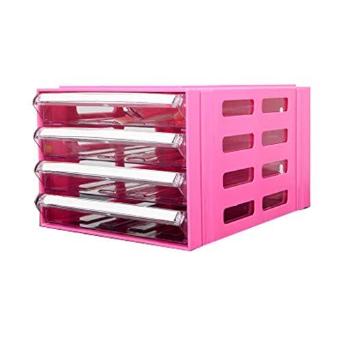 Qazxsw Archivadores A4 Mesa de Mesa de Armario de Almacenamiento de Datos Tipo cajón de plástico de Escritorio Debajo del Armario de Actividades (Color: Blanco)
