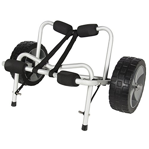 Best Choice Products Aluminum Kayak and Canoe Dolly Cart Carrier Transport Trolley