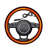 onegoodcar Heated Steering Wheel Cover, 12V Auto Steering Wheel...