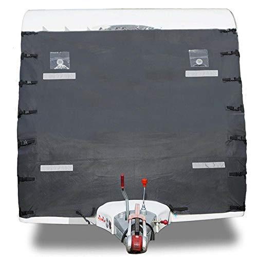 Cocoarm Schutzhülle für Wohnwagen Frontschutzplane Caravan Cover Schutzhaube aus Oxford mit LED-Beleuchtung