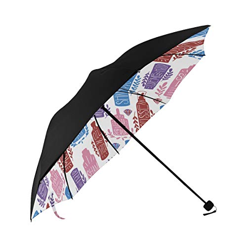 Shampoo Daily Necessities Creative Compact Travel Umbrella Sun Parasol Anti Uv Foldable Umbrellas(underside Printing) As Best Present For Women Sun Uv Protection