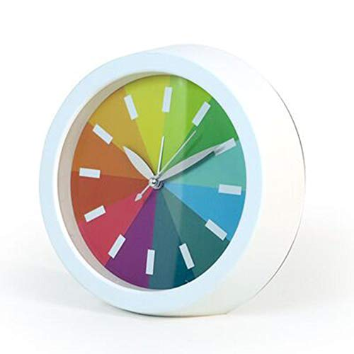 QMMCK eenvoudige regenboogwekker extreem stille kleine wekker studentenkamer slaapkamer wekker
