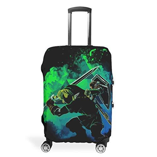 Nanlili Luggage case Cover Washable Spandex Luggage Cover Dust-proof Anti-thief Luggage Protector Case Zelda Design white 30-32in