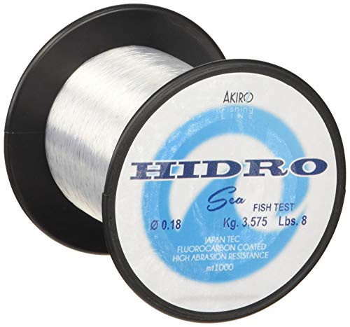 Akiro Hidro Sea, Filo da Pesca Unisex – Adulto, Trasparente, 0.18 mm