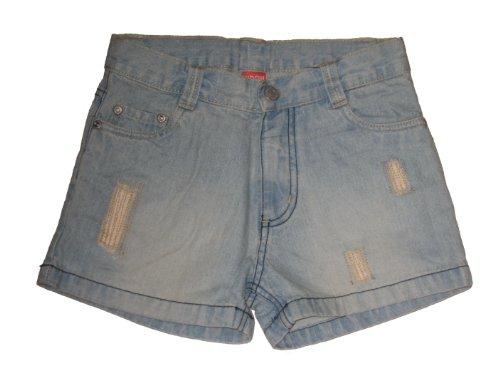 Kidoki Jeansshorts, Gr. 122, blue bleache Shorts im used look