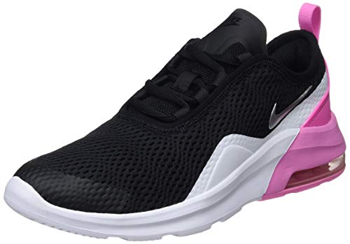 Nike Baby Mädchen Air Max Motion 2 (Gs) Gymnastikschuhe, Mehrfarbig (Black/Metallic Silver/Psychic Pink/White 001), 38.5 EU
