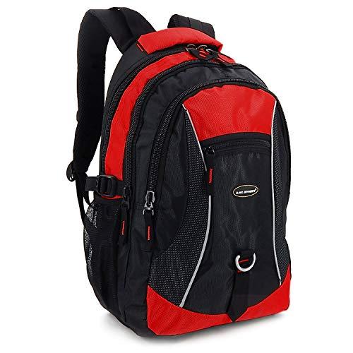 Lässige Rucksäcke für Alltag, Arbeit, Reisen & Schule - Wasserabweisend Jungen Teenager (Rot)