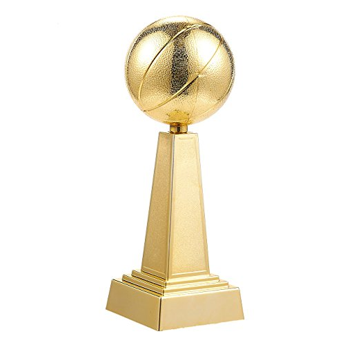 Juvale Basketball Trophy - Gold Award Trophy for Sports Tournaments, Competitions, 3 x 9.5 x 3 Inches