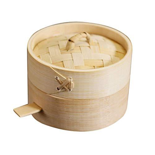Tubayia Mini bambú Vaporera Cesta de Vapor Verduras Sordina para Accesorio de Cocina, 9 cm