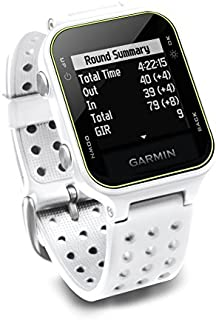 Garmin Approach S20, reloj de golf, color negro, Blanco, Blanco