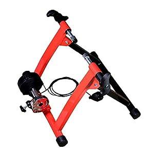 Rodillos para Bicicletas Con Control de la línea de bicicletas plataforma de formación Ciclismo Aparcamiento tabla cubierta de resistencia magnética Equipo libre de ruidos Rojo para Bicicletas de Carr