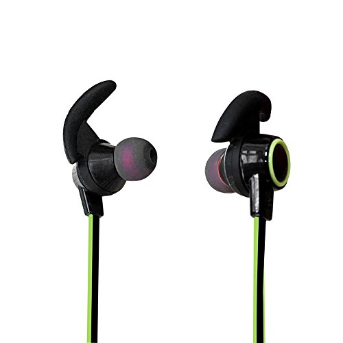 LoongSon Bluetooth Headphones, Best Wireless Sports in Ear Earbuds with Mic HD Stereo Bluetooth 4.2 Sweatproof Headset, Mini Earphones for Gym Running Workout Noise Cancelling (Green)
