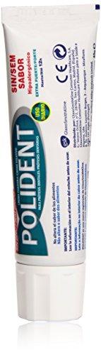 Polident - Crema fijadora para prótesis dentales - Sin sabor - Tubo de 40 ml - [paquete de 6]