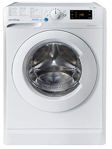 Privileg PWF X 743 N Waschmaschine Frontlader / 7 kg / Push&Go Programm/Startzeitvorwahl/Kurzprogramme/Maschinenreinigung/Inverter Motor/Wasserschutz/Wolle/Kindersicherung
