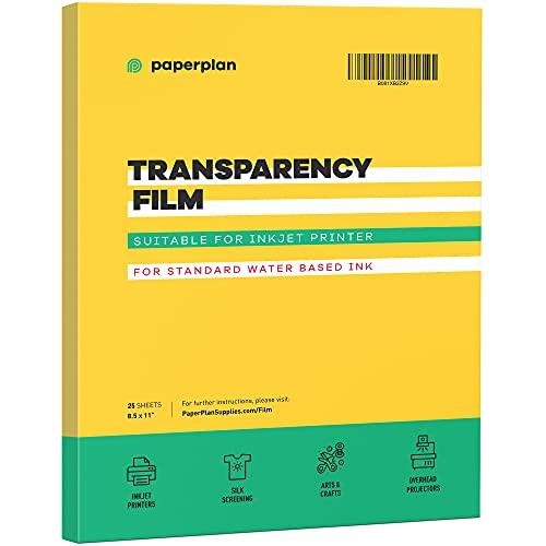 (25 Sheets) Transparency Paper Sheets For Inkjet Printer Film...