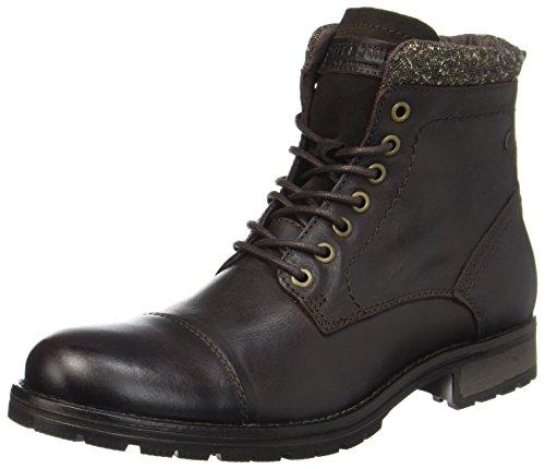 JACK & JONES Herren JFWMARLY Leather Bison Klassische Stiefel, Braun, 46 EU