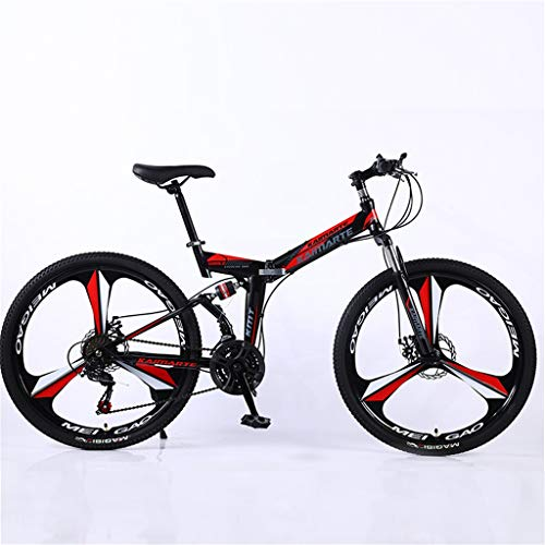 Hörsein Plegado de Velocidad Variable Bicicleta de montaña de 24 Pulgadas 26 Pulgadas Bicicleta Estudiante Bicicleta de montaña Velocidad Variable Estudiante Adulto Cola Suave,C,26 Inch 27 Speed