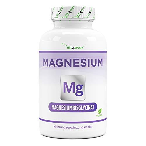 Bisglicinato de magnesio - 240 cápsulas - Premium: magnesio quelado - 155 mg de magnesio elemental por cápsula - Vegano - Fórmula de alta dosis