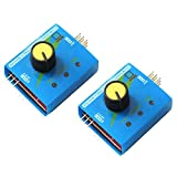 RGBZONE 2 Pack 3CH 4.8-6V Servo Tester CCPM Consistency Master Checker with Reverse Connection Protection, ECS Motor Tester Server Test Servo Centering Tool