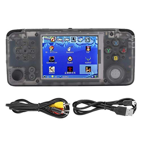 DAUERHAFT Game Console Controller Tragbarer kratzfester 3-Zoll-HD-Bildschirm Game Console Quality Translucent Material 32G-Speicherkarte für Game Console