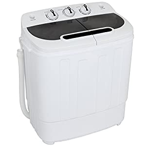 ZENY Portable Mini Twin Tub Washing Machine 13lbs Capacity with Spin Dryer