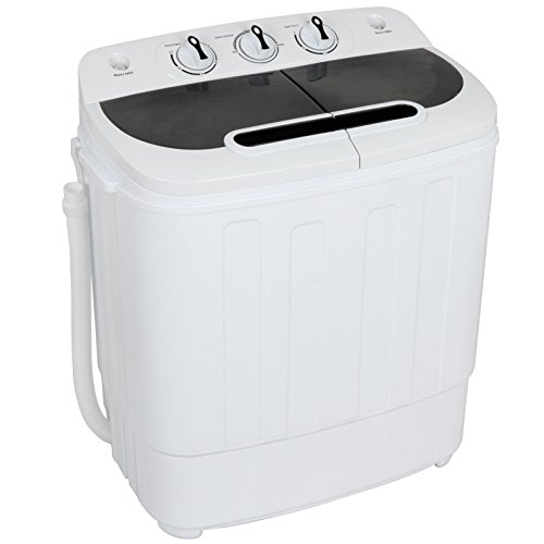 ZENY Portable Mini Twin Tub Washing Machine 13lbs Capacity with Spin Dryer,Compact Cloths...