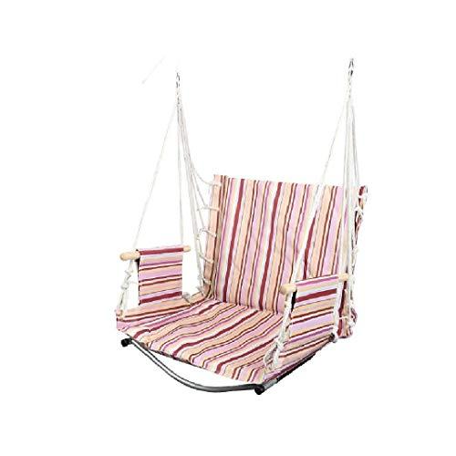 XZJJZ Cojines para sillas de Hamaca y reposabrazos de Madera, sillas Colgantes relajantes para Interior/Exterior/Patio/Porche (Color : A)