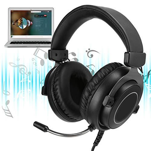 VINGVO Auriculares para Juegos Cómodo Diseño Fuerte Compatibilidad Compatibilidad multiplataforma Auriculares para PC para Oficina en casa