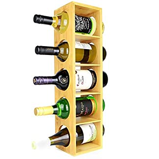 ABO-Wandhalterung-5-Flaschenhalter-Stnder-Vormontierter-Weinregalschrank-aus-Holz-Stapelbarer-modularer-Aufbau
