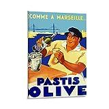JINHAODG Pastis Olive Poster, dekoratives Gemälde,