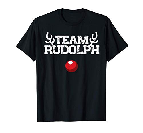 Team Rudolph Funny Christmas Reindeer Lover Gift T-Shirt
