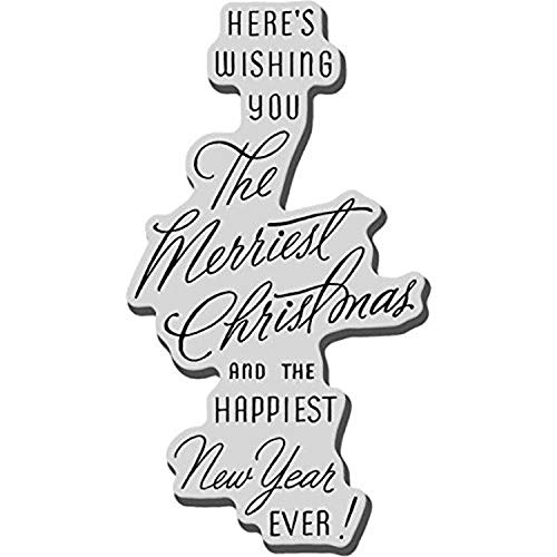 Stampendous Merriest Wish Rubber Stamp, 2-1/4 x 3-1/2 -Inch