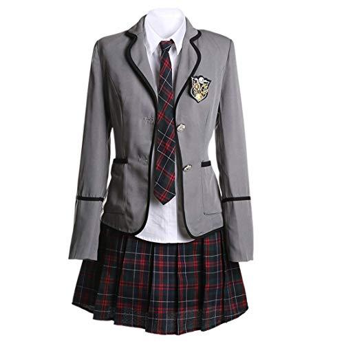URSFUR Mädchen Japan Kostüm Langärmelige Anzug Cosplay Uniform Anime Uniform - Style 1 - S (Herstellergröße: M)