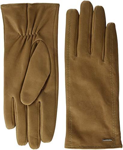 BOSS Damen Gueen Handschuhe, per pack Braun (Light/Pastel Brown 233), 7.5 (Herstellergröße: 7.5)