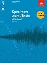 Specimen Aural Tests, Grade 7 with 2 CDs: new edition from 2011 (Specimen Aural Tests (ABRSM)) by ABRSM (8-Jul-2010) Paperback