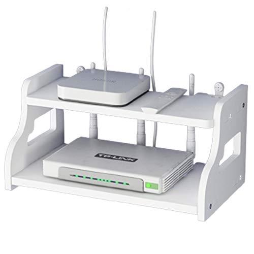 JIE KE Multifunción Soporte de Pared Hogar multifunción Rack WiFi Wall TV Set-Top Box Rack Hole-Free Wall Router Caja de Almacenamiento Montado en la Pared Super Carga-Rodamiento
