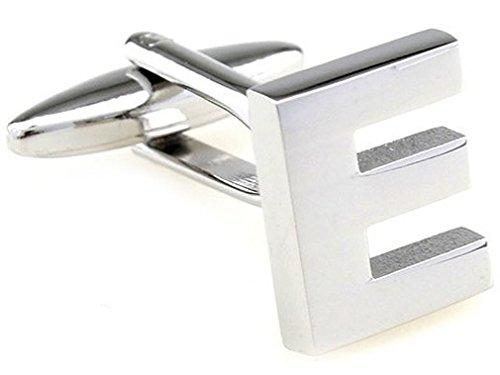 TEROON boutons de manchettes initiales de lettre 'E' [Bouton - NON paire]
