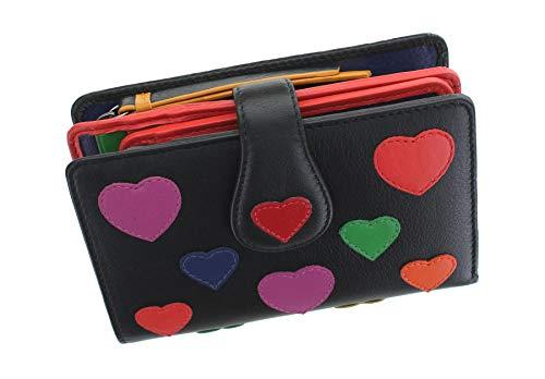 Visconti Love Collection Crush Leather Purse RFID LV4 Black