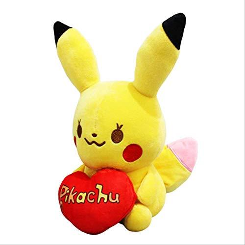 N|A Muñeca De Peluche Pokemon Peluches Peluche Amor Pika Raichu Regalos 20cm Rojo
