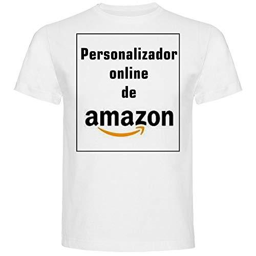 Camiseta Personalizada Hombre · Manga Corta · 100% Algodón · Impresión Directa (DTG) Impresión (Blanco, M)