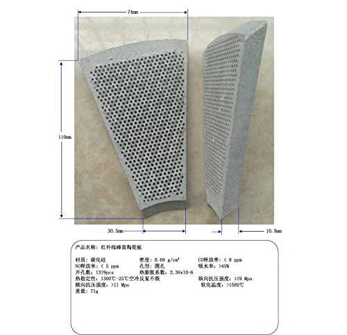 XuBaofu-SH, de 300 sector infrarood keramische honingraat plaat, energiebesparende kachel tegels