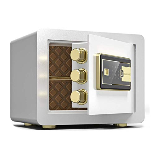 YWSZJ Caja Fuerte Digital, gabinetes de Pared de la Huella Digital Seguro de la Cerradura Cash Box Fuerte con número de Teclas de Bloqueo de Emergencia (Color : White)