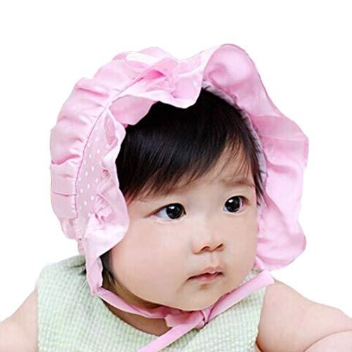 Nouveau-né bébé Chapeau de Soleil, IMJONO Girl Boy Summer Polka Dots Bonnet Chapeau Casquette 2-12 Mois (2-12 Mois, Blanc)