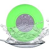 Altavoz Bluetooth portátil para Ducha, micrófono Integrado, batería Recargable Manos Libres, Altavoz de Sonido estéreo para teléfonos Inteligentes y tabletas (Verde)