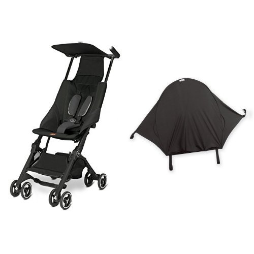 gb Pockit Stroller, Monument Black & Summer Infant Rayshade Stroller Cover