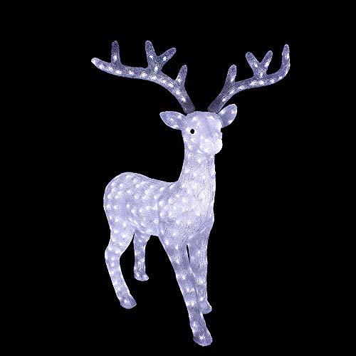 Arcoiris® Reno Luminoso Navidad Con LED Blanco para Interior y Exterior, Navidad LED Decoración para Navidad (200 LEDs)
